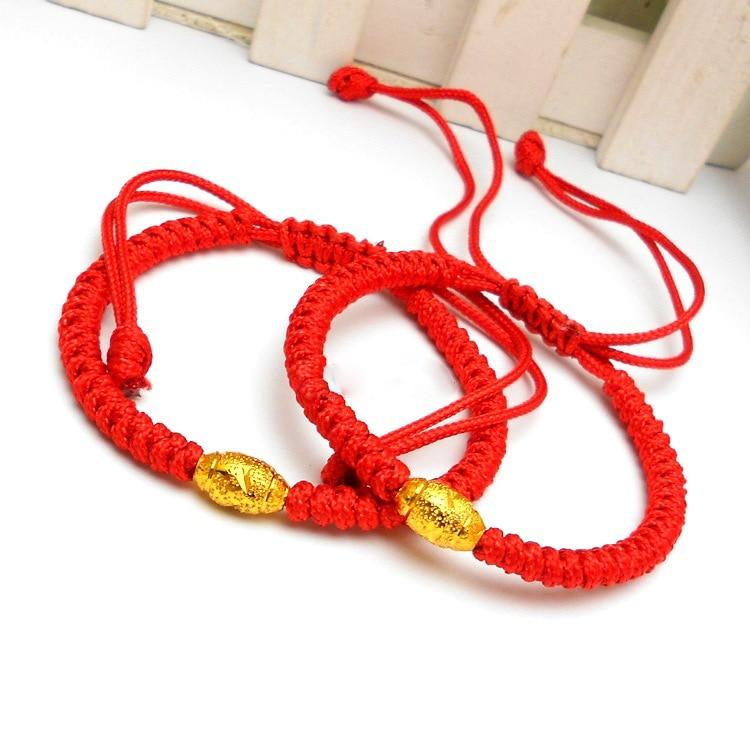 Bijoux Femme Red Rope Gold Bangle String Bracelets For Women Braclets Braslet Pulseras Hombre Pulseiras Femininas Christmas Gift