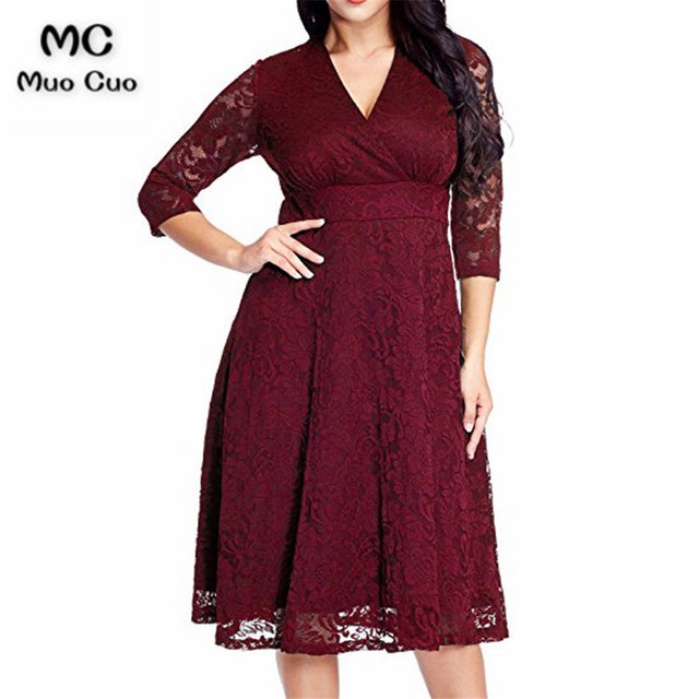 c6508a962f8 2018 3 4 Sleeves Burgundy Mother of the Bride Dresses with Lace dress for Graduation  Mother of the Bride Dresses for weddings