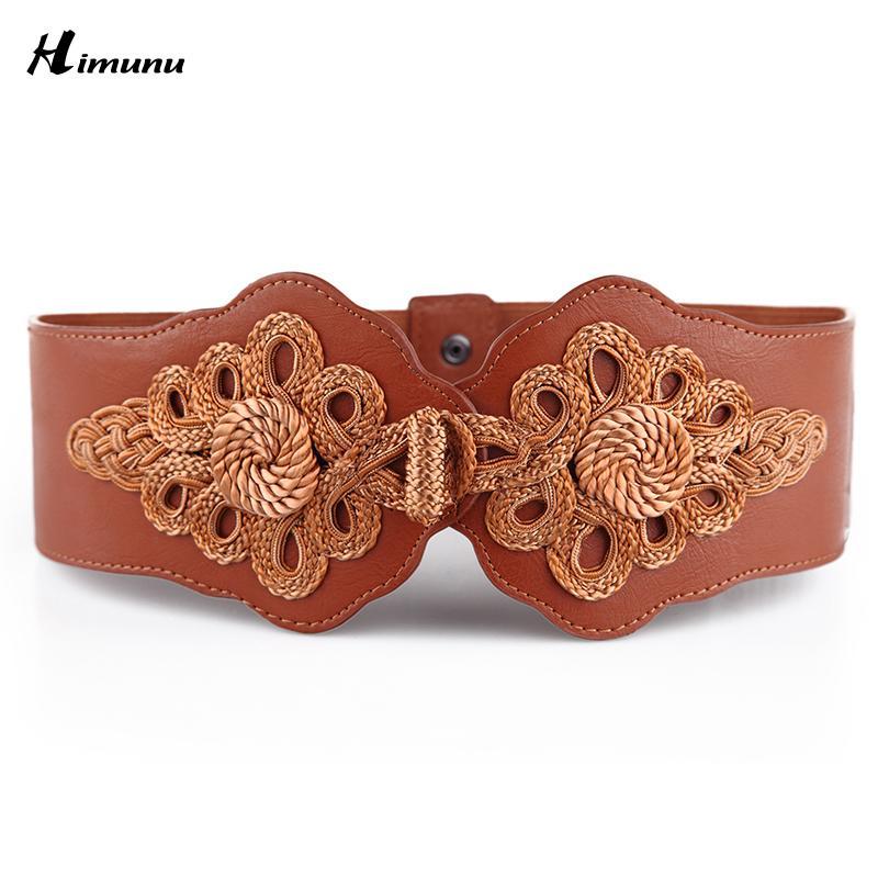 Europeo y americano caliente tejido elástico mariposa hebilla cinturón  ancho señora moda faja cummerbunds cinturones femeninos para las mujeres  faja f6224491f642
