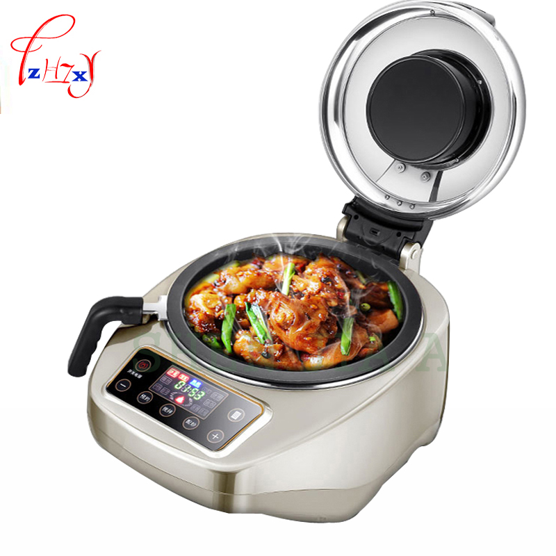 4.2L Smokeless cooking machine 1550W smart cooking pot Automatic meat vegetable cooker machine Food Cooking Maker DL-001