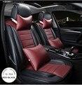 Marca nuevo estilo de cuero de lujo asiento de coche cubiertas frontal y trasera conjunto completo para Universal 5 asiento de coche cuatro temporada