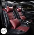 Novo estilo de luxo de couro assento de carro cobre frente e traseira conjunto completo para Universal 5 assento de carro quatro estações