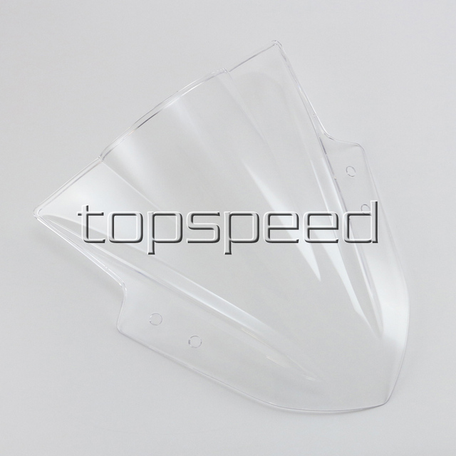 Transparent Clear Motorcycle Windshield Windscreen For Kawasaki Ninja300 EX300 2013 2014 2015 2016 2017