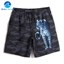 Gailang Brand Beach Shorts Board Boxer Trunks Boardshorts Men's Swimwear Swimsuits