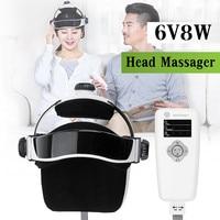 ABS+ Rubber + Sponge 6V 8W 100 240V 50/60Hz Electric Head Massager Infrared Pressure Relax Acupuncture Music Massage Helmet