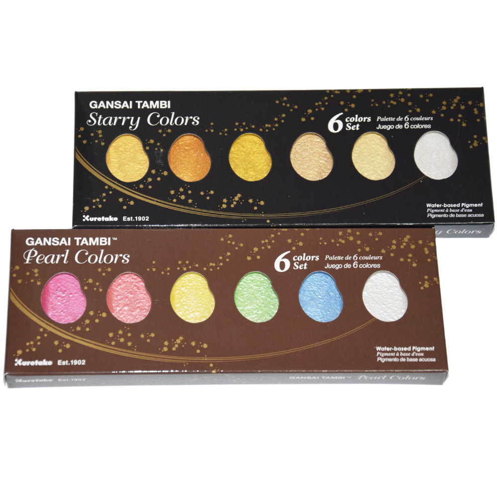 Kuretake solid watercolor paint Starry Colors Watercolor Paints Pearl Color Star Color Paints Art supplies top chinese artistic ink stick watercolor paint fabric oil paint aquarelle paints inker water color paints ink stick