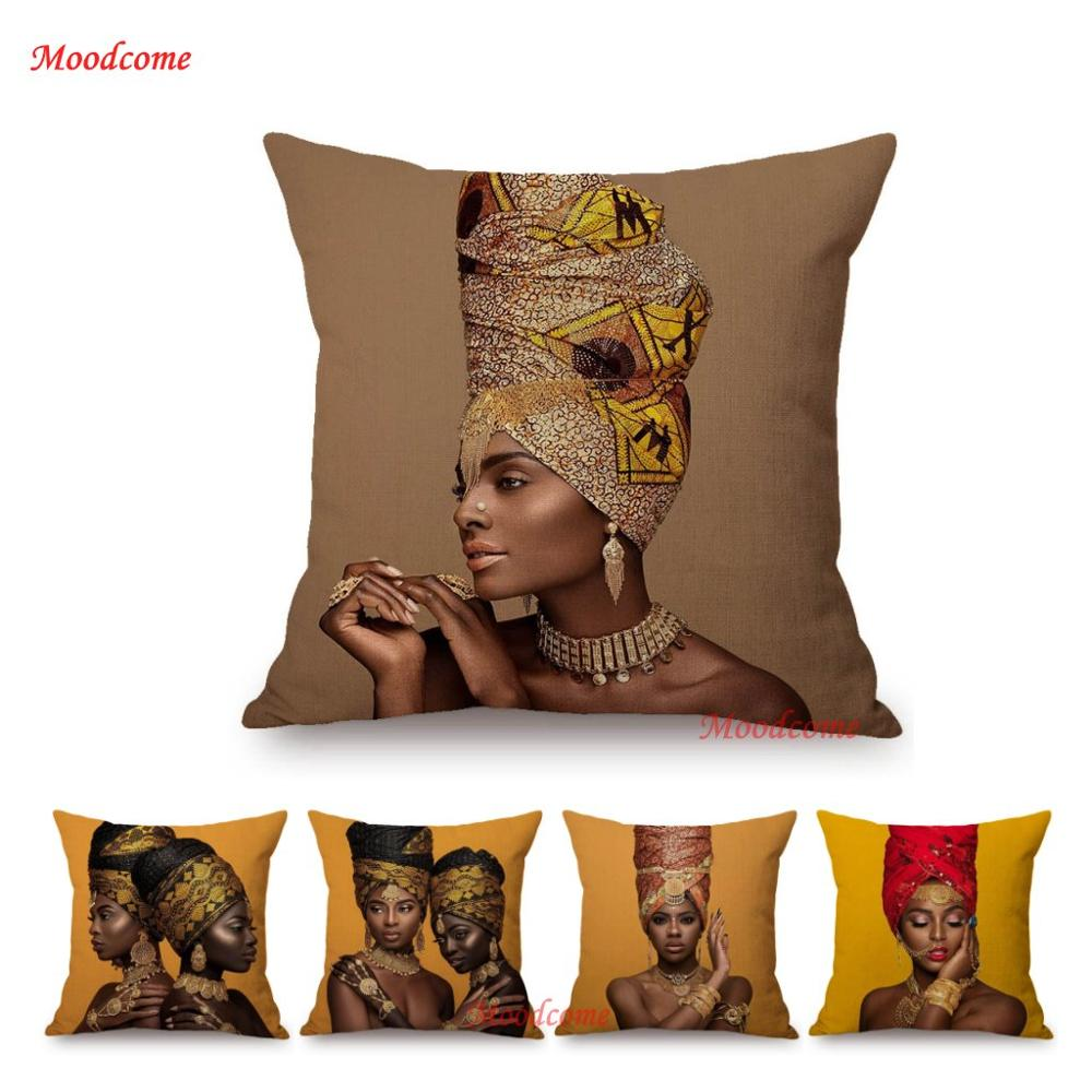 Fashion Africa Queen African Vogue Woman Home Decoration Sofa Throw Pillow Case Beauty Store Salon Decorative Cushion Cover Cushion Cover Aliexpress