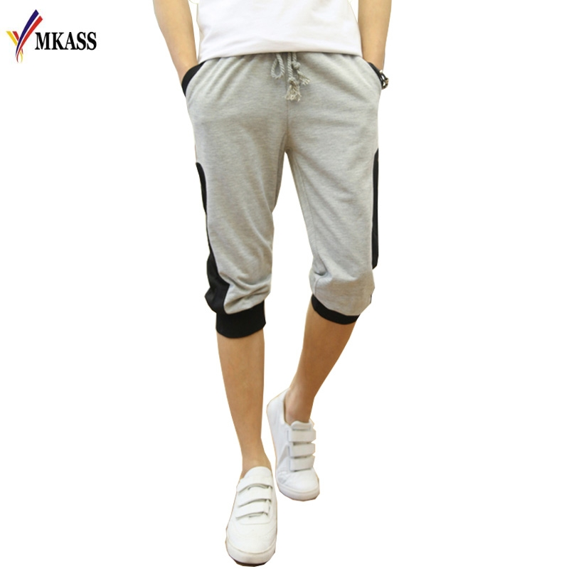 Patchwork Color New Style Summer Mens Fashion Casual Shorts Hip Hop Loose Shorts Men Trousers Short