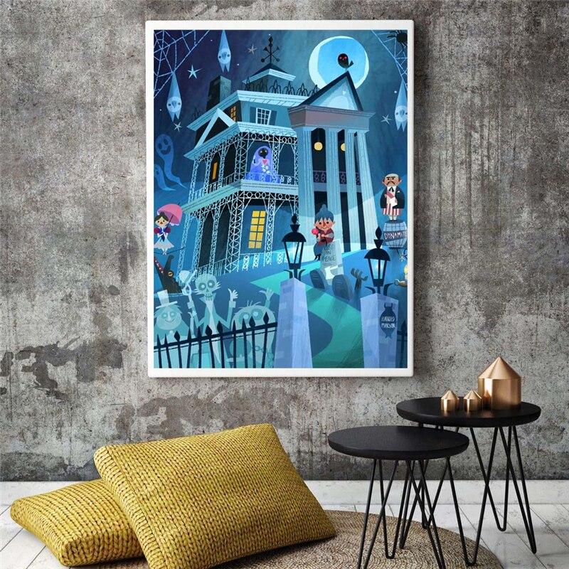 Haunted Mansion Illustrations Canvas…