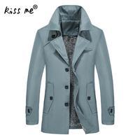 New Mens Trench Coat Fashion Designer Men Long Coat Autumn Slim Brand Mens Jacket Windbreaker Men Trench Coat Plus Trench Uomo