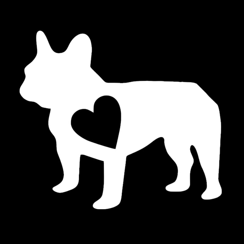 14.4*12.7CM French Bulldog Vinyl Decal Lovely Pet Dog Car Stickers Car Styling Accessories Black/Silver