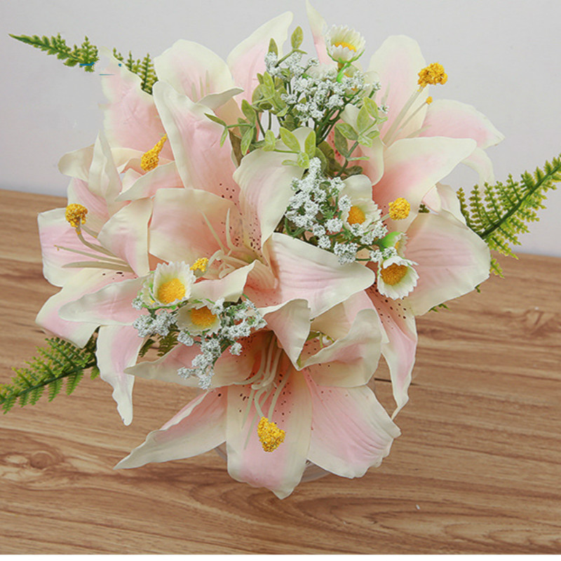 Aliexpress.com : Buy Artificial Flowers Lily Silk Bridal