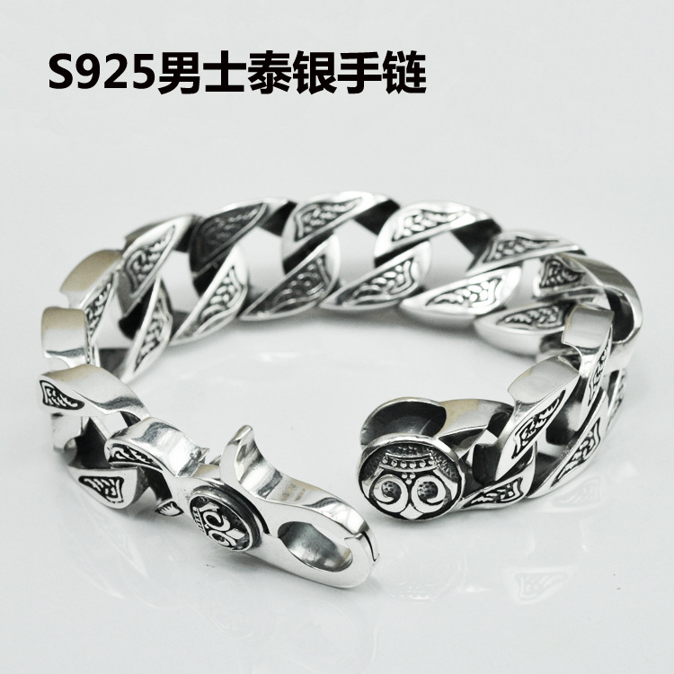 Thai Silver Bracelet Male Original Hand S925 Sterling Silver Jewelry Retro Domineering Men Bracelet Wholesale зонт детский mary poppins классика 46 см