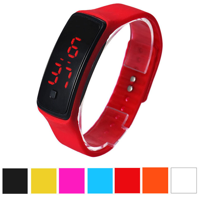 Fashion Ultra Thin Silicone Men Women Sports Watch Relgio Bracelet Wristwatch Di