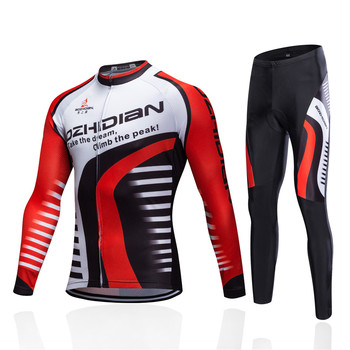 цены Men Winter Cycling Clothing Set Cycling Jersey Long Sleeve Bike Bicycle Pants Thermal Fleece Uniform Maillot Ciclismo Invierno