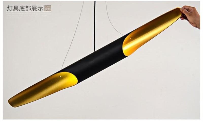 Nordic 60cm bambus oblik aluminijska cijev privjesak moderna - Unutarnja rasvjeta - Foto 4