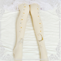 Lolita Tights Stocking Lace Printing Long Stocks Cute Anime Cosplay Costumes 3D Printed Moon Star Castle