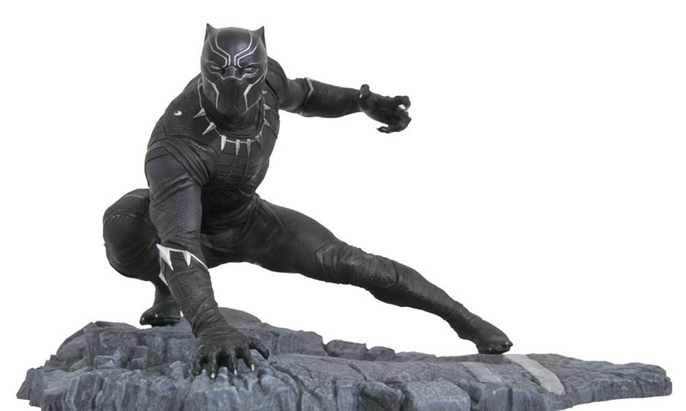 Marvel Avengers 3 Infinity War Black Panther Statue 1/6 Scale Painted PVC Action Figure Collectible Model Kids Toys Doll 14cm 1 6 scale ancient figure doll gerard butler sparta 300 king leonidas 12 action figures doll collectible model plastic toys
