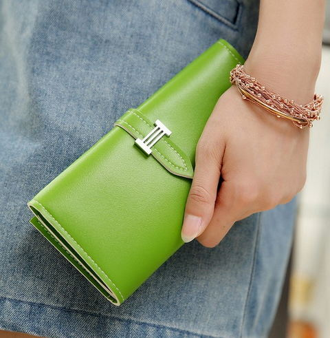 2016 New Carteira Real Women's Wallet Purse with Large Capacity and Multi-Card Holder Long Section Solid Colors 4
