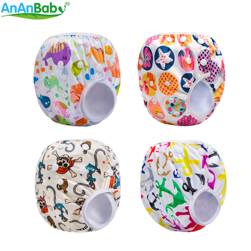 Reusable Waterproof Prints Pocket Swim Diaper Cover Waterproof Baby Swim Cloth Diapers SWM Series