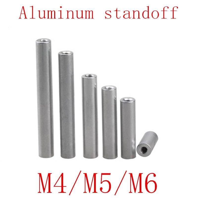 5-10pcs/lot M2 M2.5 M3 M4 M5 M6*L Round aluminum standoff spacer Stud extend long nut L=6 TO 100
