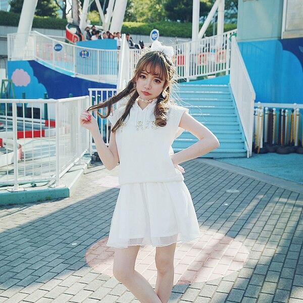 Princesse douce lolita T-shirt BOBON21 ultra 2 pièces ensemble de dynamique fille perle diamant casquette T-shirt fil fronde D1360