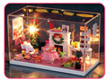 Diy Doll House Model Building Kits Miniature Handmade Wooden Dollhouse Toy Christmas Birthday Greative Gifts-Merry Christmas