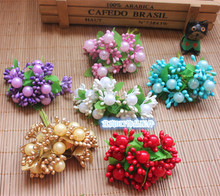60PCS High Quality Artificial Mini Pip Berries,Wire Stem,Pistils And Pearl Stamens For Flowers,Decorations For Garland,Wedding