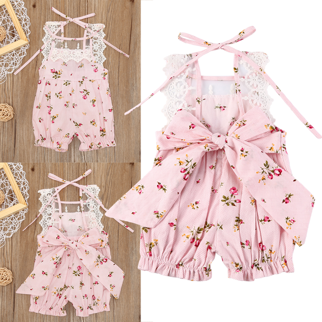 Floral Newborn Infant playsuit Jumpsuits Romper Baby Girls Romper Jumpsuit Outfit Sunsuit Clothes 2017 cute new summer newborn infant baby girl romper sleeveles cotton floral romper jumpsuit outfit playsuit clothes