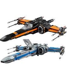 Yıldız savaşları 75149 75218 blokları İlk sipariş Poe erkek x kanat Fighter modeli yapı taşları yıldız savaşları tuğla oyuncaklar hediye çocuklar