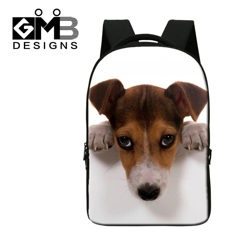 Dispalang Cute Dog Pring Laptop Backpack Men Travel Backpack Women Animal Notebook Bags Teenager School Bags