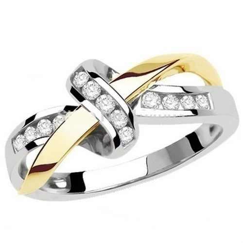 Женские кольца с бантиком Hainon, золотое/серебряное кольцо с кристаллами и кубическим цирконием, ювелирные изделия для помолвки, вечеринки, свадьбы