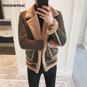 2019 men New Classic  jacket thicken coats mens Rex rabbit hair coat Men's winter fashion Jackets outwear L,XL,XXL,XXXL