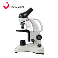 Phenix Biological Microscope Theory Monocular Drawtube Pocket Microscope with professional nylon package