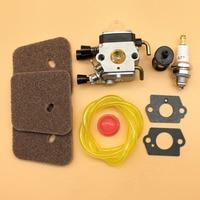 Carb Carburetor Air Fuel Filter Kit Fit STIHL FS55 FS55R FS55RC FS55C FS55T FC55 KM55 KM55R HL45 Trimmer Cutters Spare Parts