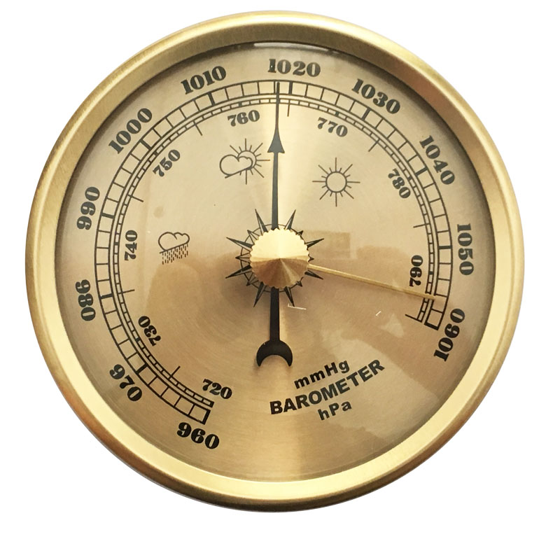 70mm Samll Household Weather Station Barometer Thermometer Hygrometer Wall Hanging Tester Tools