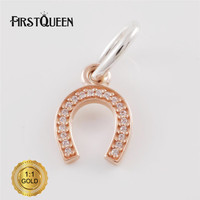 FirstQueen Silver 14k Rose Gold Symbol Of Luck Charm Fit Bracelets DIY Pendants Jewelry Making Fine