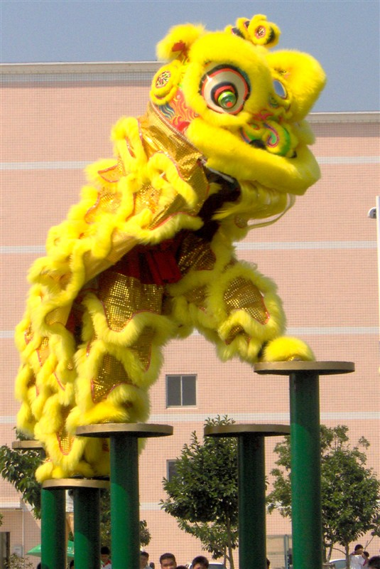 Čínský jarní den party kostým vysoce kvalitní čistý taneční kostým Lion Lion vyrobený z čisté vlny Southern Lion Adult size