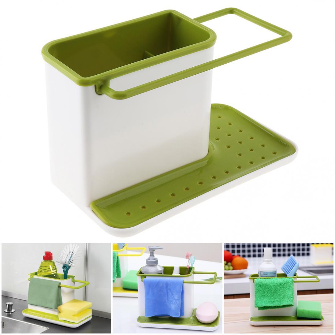 Plástico multifunción verde lixiviados estantes de almacenamiento con tablero de drenaje Diseño y desmontable para cocina Baño