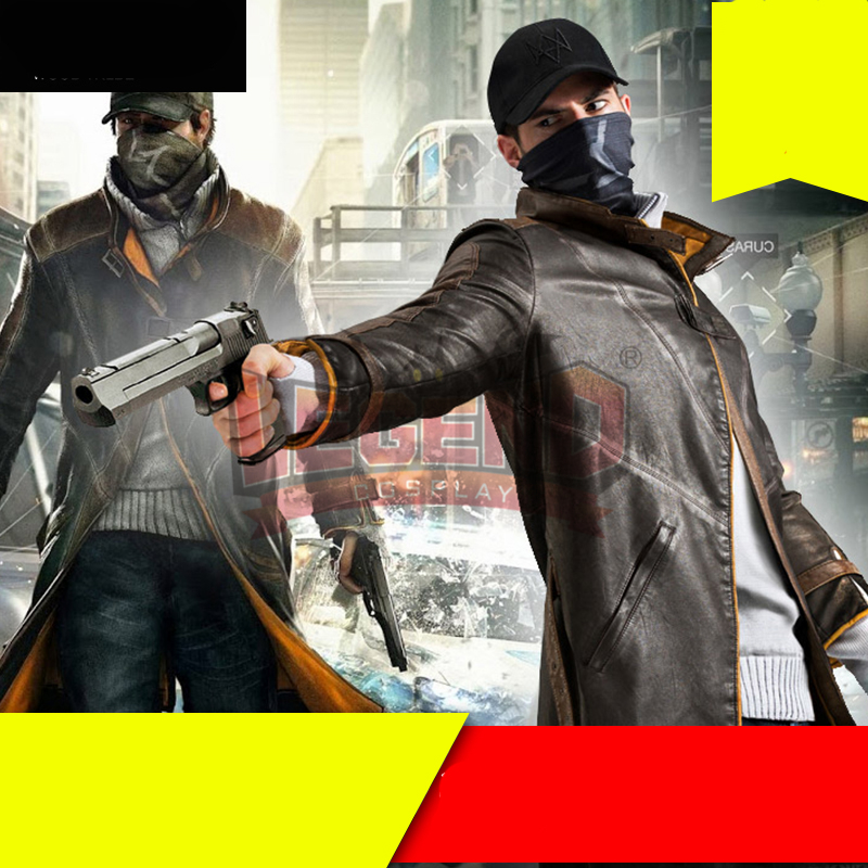 Watch Dogs Aiden Pearce cosplay costume trench long coat adult watch dogs aiden pearce cap costume cosplay watch dogs hat high quality baseball cap
