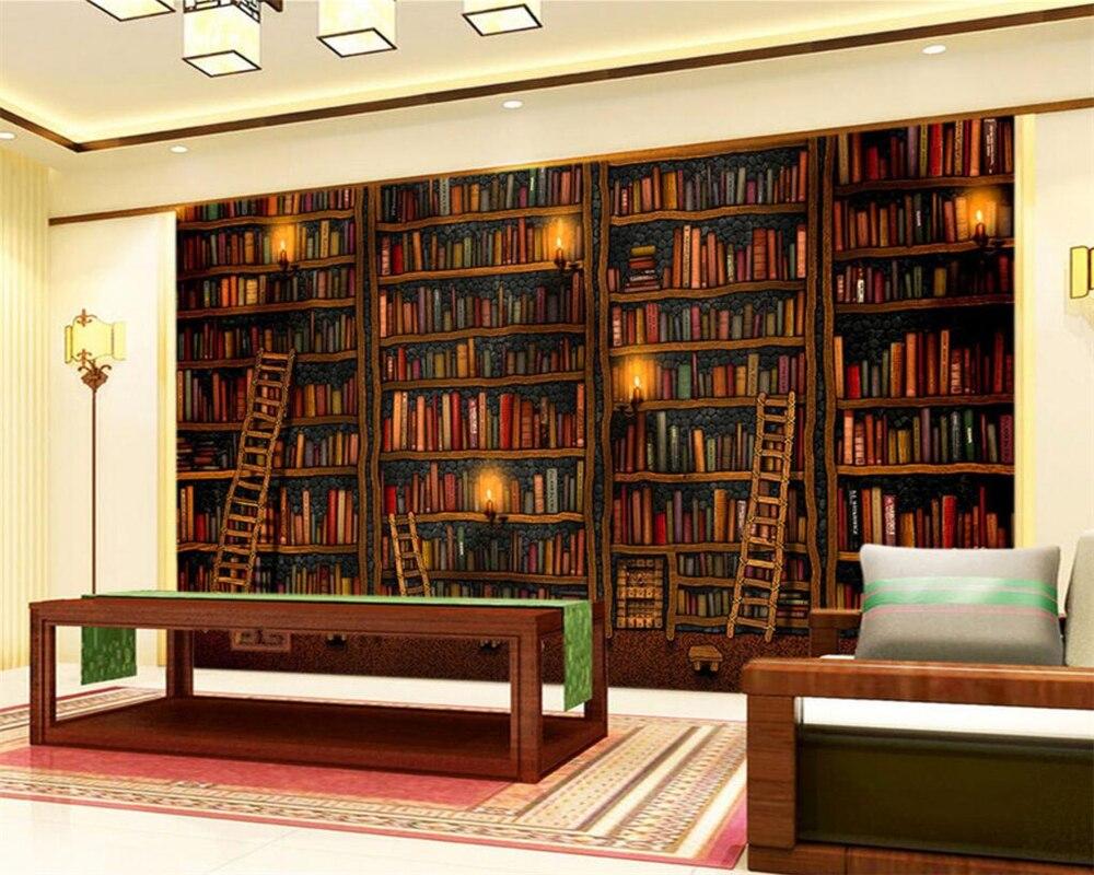 Boekenkast Behang Woonkamer : Beibehang aangepaste behang woonkamer slaapkamer muurschildering