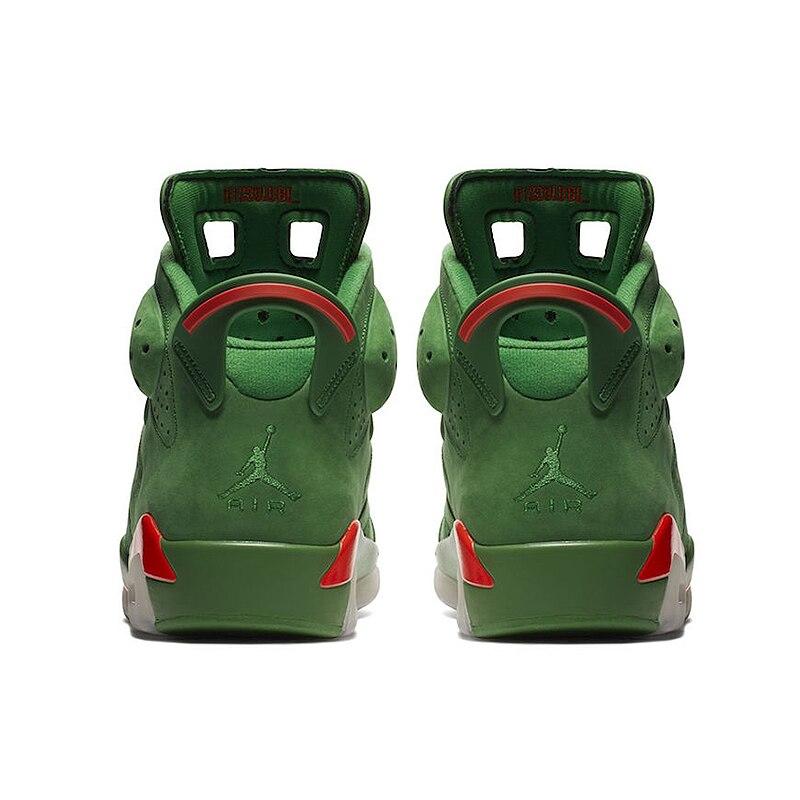 Nike Air Jordan 6 Gatorade AJ6 Green Suede Men's Basketball Shoes Outdoor Sneakers Athletic Designer Footwear 2018 New Walking 16