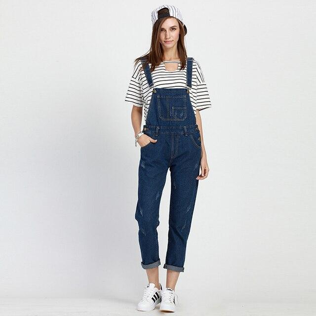 cca1cdbd7d6 5xl plus size denim jeans pants women summer style 2016 bermuda feminina  jeans suspenders nine points suspenders female A0729