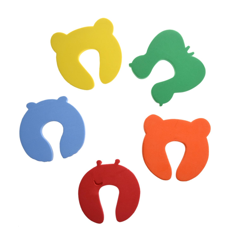 где купить 2 Packs 5x Baby Kids Door Jammer Finger Pinch Guard Child Toddler Infant Safety Protector Stopper Cute Animal Designs по лучшей цене