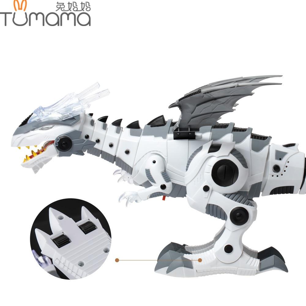 Tumama Electronic Pet Walking Dinosaur Roaring luz intermitente juguetes electrónicos educativos Robot máquina de juego regalo para los niños
