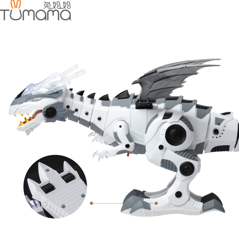 Tumama Electronic Pet Walking Dinosaur Roaring Flashing Light Electronic Toys Robot Educ ...