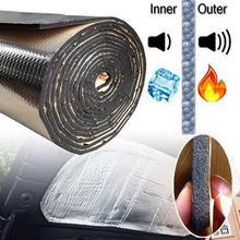 Автомобильная дверь капот двигателя звук заглушка коврик шум изоляция капота заглушка капота двигатель брандмауэр тепло алюминиевая пена наклейка
