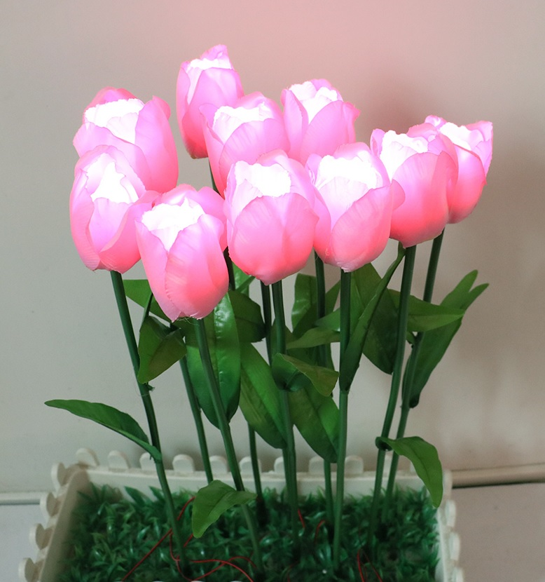 Plastic Flower LED Of Calla And Tulips