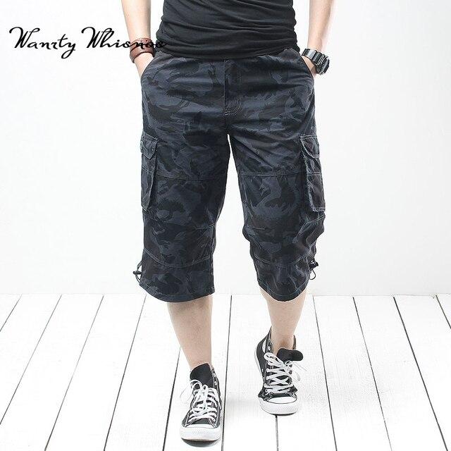 Высокое качество Лето Для мужчин багги с карманами Военная Униформа короткие Брюки карго горячий Бриджи мужские длинные Для мужчин тактические Короткие плюс Размеры 6XL