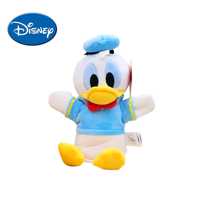 42dc5334905 Disney Plush toys Kids Hand Puppet Finger toy Mickey Mouse Minnie Donald  Duck Daisy soft safe cute Plush doll Children Gifts